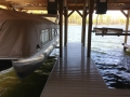 Side-mounted lifts & 9ft Ceilings work nicely with Pontoon Boats